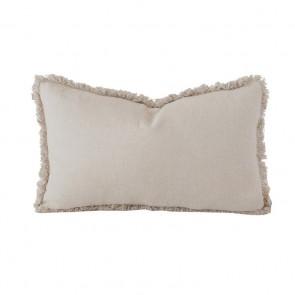 Linen Long Cushion by Bambury - Pebble
