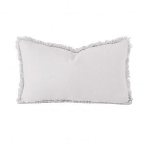 Linen Long Cushion by Bambury - Silver