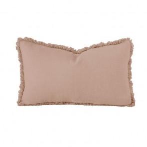 Linen Long Cushion by Bambury - Tea Rose