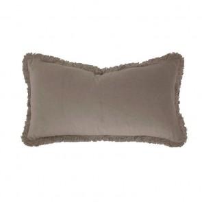 Velvet Long Cushion by Bambury - Almond