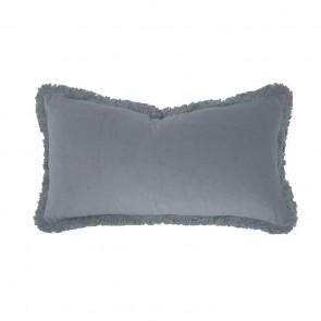 Velvet Long Cushion by Bambury - Steel Blue