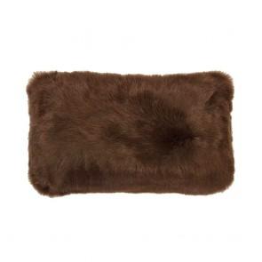 Faux Fur Long Cushion by Bambury - Hazel