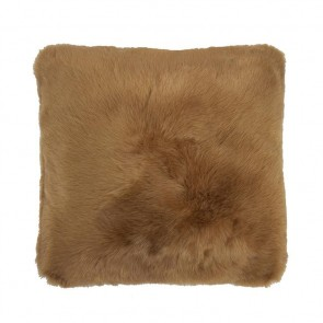Faux Fur Square Cushion by Bambury - Butterscotch