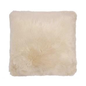 Faux Fur Square Cushion by Bambury - Nougat