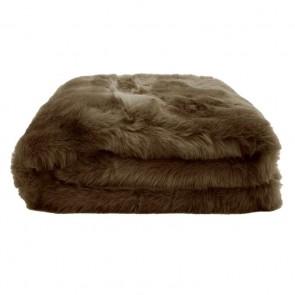 Faux Fur Throw by Bambury - Hazel