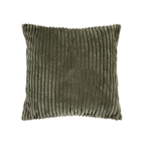 Channel Square Cushion - Moss