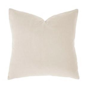 Velvet Square Cushion by Bambury - Pearl