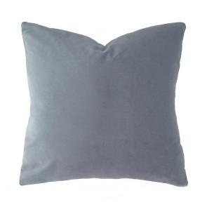 Velvet Square Cushion by Bambury - Steel Blue