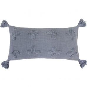 Ada Long Cushion by Bambury - Steel Blue