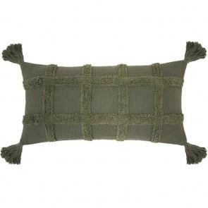 Percy Long Cushion by Bambury - Moss