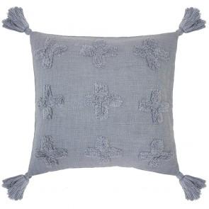 Ada Cushion by Bambury - Steel Blue