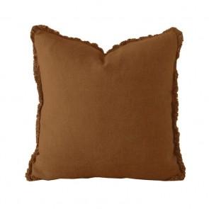 Linen Square Cushion by Bambury - Hazel
