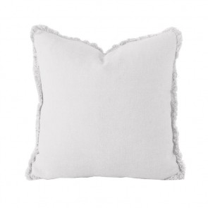 Linen Square Cushion by Bambury - Silver