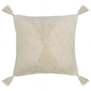 Jardee Square Cushion by Bambury - Stone