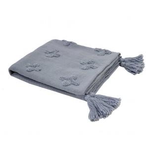 Ada Throw by Bambury -Steel Blue