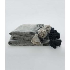 100% cotton Birch Throw by MM Linen Flint