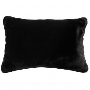 Heirloom Black Panther Faux Fur Long Cushion