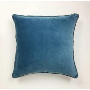 Blue Stone Velvet Cushion