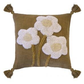 Blossom Cushion by Bambury - Hazel