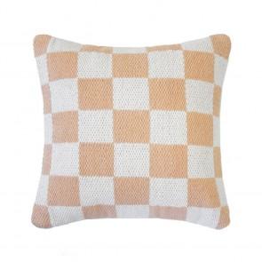 Checker Cushion by Bambury - Papaya