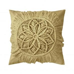 Sosa Cushion by Bambury - Flax