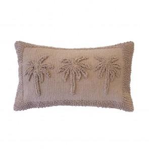Three Palms Cushion by Bambury - Tea Rose