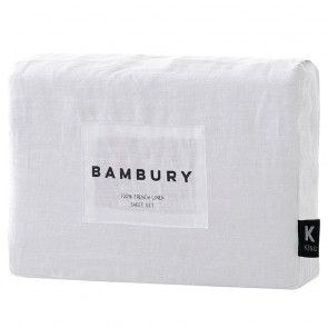 Ivory Linen Sheet Sets by Bambury