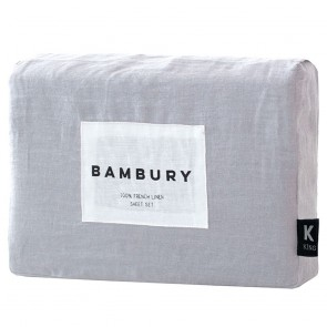 Silver Linen Sheet Sets by Bambury