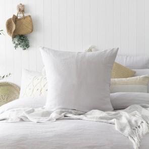 100% French Flax Linen Euro Pillowcase by Bambury - Silver