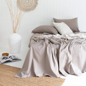 Chambray Sheet Sets by Bambury - Taupe