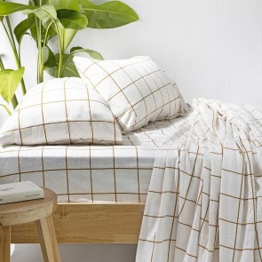 Carrington Flannelette Sheet Set by Bambury - Ivory