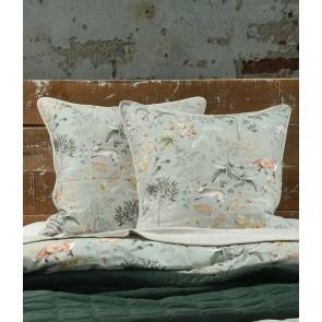 Briar Sage Quilted Euro Pillowcase Pair