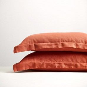 100% Linen Brick Pillowcase Pair
