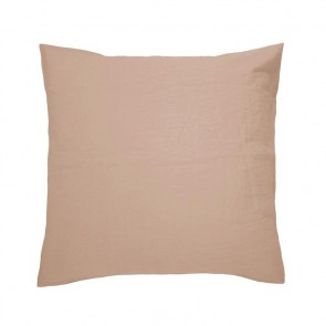 100% French Flax Linen Euro Pillowcase by Bambury - Tea Rose