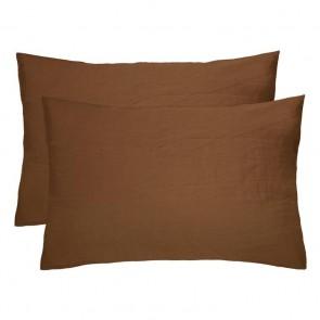 100% French Flax Linen Pillowcase Pair by Bambury - Hazel