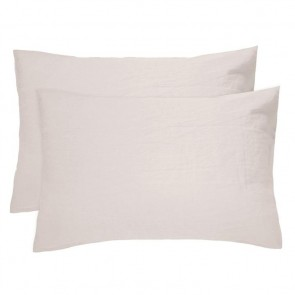 100% French Flax Linen Pillowcase Pair by Bambury - Pebble