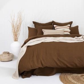 100% French Flax Linen Duvet Cover Set by Bambury - Hazel
