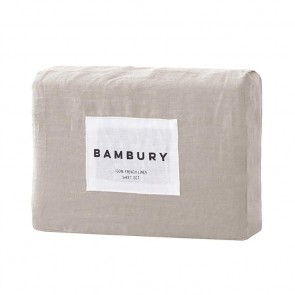 100% French Flax Linen Sheet Sets by Bambury - Pebble