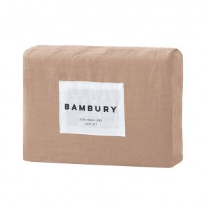 100% French Flax Linen Sheet Sets by Bambury - Tea Rose