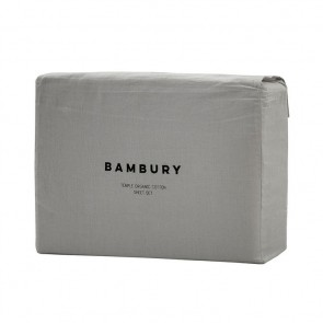Temple Organic Cotton Sheet Sets by Bambury - Grey