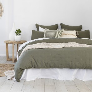 Willare Quilted Duvet Cover Set by Bambury - Moss