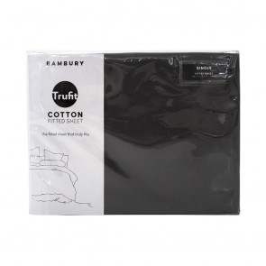 Trufit Fitted Sheets by Bambury - Charcoal