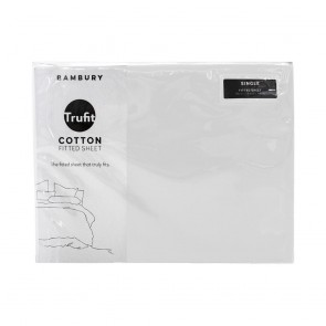 Trufit Fitted Sheets by Bambury - White