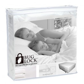 PROTECT-A-BED Bug Lock Protector for Mattresses and Bases - 18-24cm Depth