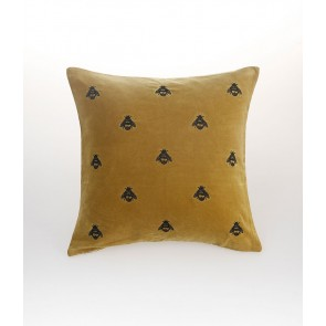 Buzz Square Cushion by MM Linen Mustard