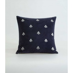 Buzz Square Cushion by MM Linen Navy