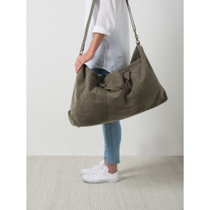 La Paz Waxed Canvas & Leather Weekender Olive