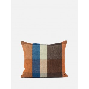 100% Linen Cabin Linen Cushion Cover Midnight/Multi - 2 Pack