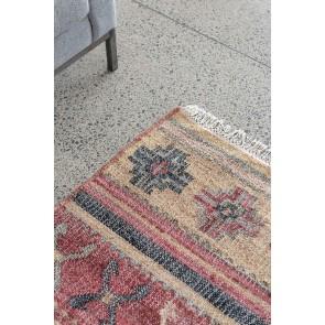 Mulberi Cairo Red/Multi Jute/Cotton Rug