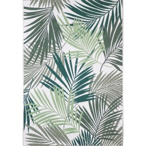 Limon In & Outdoor Canopy Cream/Green Rug